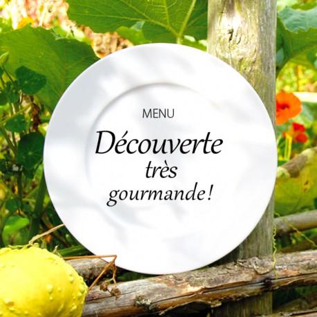 """MENU """"DÉCOUVERTE TRÈS GOURMANDE"""""""