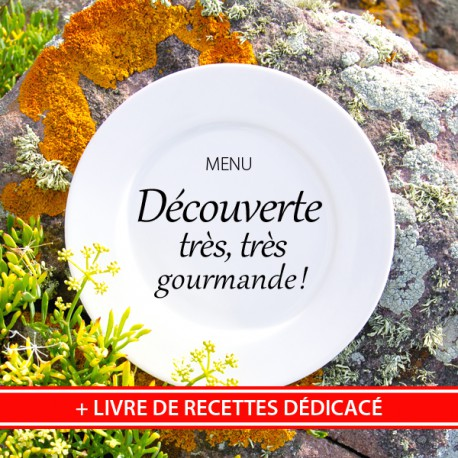 """MENU """"DÉCOUVERTE TRÈS, TRÈS GOURMANDE"""" & Livre de Recettes de Nathalie"""