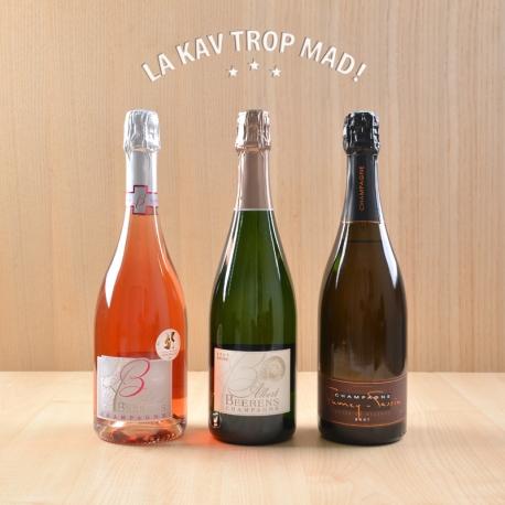 Coffret Champagne en Fête - 3 bouteilles pour accompagner un repas festif !