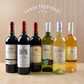 Coffret Bordeaux Bio Blanc Rouge - Vins authentiques de récoltants bordelais ! 100% BIO