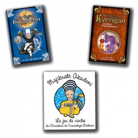 La collection : les 3 jeux de cartes dont 1 OFFERT